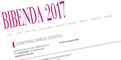 La Cantina Gentili su Bibenda 2017